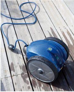 Robot électrique piscine bois